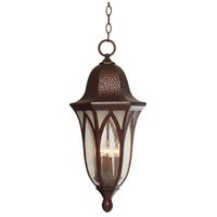 Berkshire 4 Light 11 inch Burnished Antique Copper Outdoor Hanging Lantern