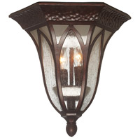 Berkshire 2 Light 11 inch Burnished Antique Copper Outdoor Flushmount