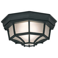 Signature Cast Aluminum 1 Light 11 inch Black Outdoor Flushmount