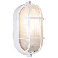 Designers Fountain Bulkhead 1 Light Outdoor Wall Light in White 2071-WH