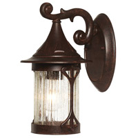 Designers Fountain Canyon Lake 1 Light Outdoor Wall Lantern in Chestnut 20911-CHN