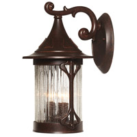 Canyon Lake 3 Light 16 inch Chestnut Outdoor Wall Lantern