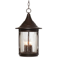 Canyon Lake 4 Light 11 inch Chestnut Outdoor Hanging Lantern