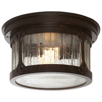 Canyon Lake 2 Light 12 inch Chestnut Outdoor Flushmount