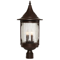 Designers Fountain Canyon Lake 4 Light Post Lantern in Chestnut 20936-CHN