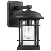 Designers Fountain 22421-WP Barrister 1 Light 12 inch Weathered Pewter Outdoor Wall Lantern