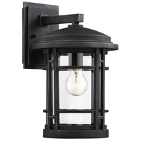 Designers Fountain 22431-WP Barrister 1 Light 15 inch Weathered Pewter Outdoor Wall Lantern
