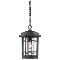Designers Fountain 22434-WP Barrister 1 Light 9 inch Weathered Pewter Outdoor Hanging Lantern