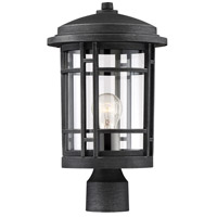 Designers Fountain 22436-WP Barrister 1 Light 15 inch Weathered Pewter Outdoor Post Lantern