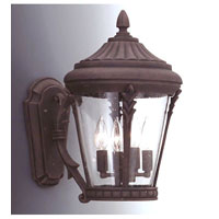 Designers Fountain Clermont 3 Light Outdoor Wall Lantern in Autumn Gold 2252-AG photo thumbnail