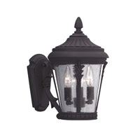 Designers Fountain Clermont 3 Light Outdoor Wall Lantern in Black 2252-BK photo thumbnail