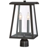 Calderwood 1 Light 17 inch Burnished Bronze Outdoor Post Lantern