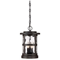Designers Fountain 22734-SB Terraze 3 Light 9 inch Satin Bronze Outdoor Hanging Lantern