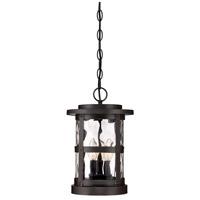 Designers Fountain 22734-SB Terraze 3 Light 9 inch Satin Bronze Outdoor Hanging Lantern