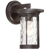 Designers Fountain 23011-SB Brookline 1 Light 10 inch Satin Bronze Outdoor Wall Lantern