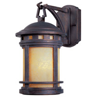 Sedona 1 Light 11 inch Mediterranean Patina Outdoor Wall Lantern in Amber