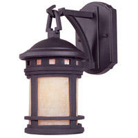 Sedona 1 Light 11 inch Oil Rubbed Bronze Outdoor Wall Lantern in Amber