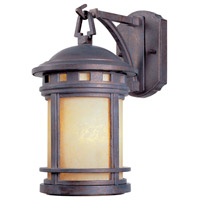 Sedona 1 Light 13 inch Mediterranean Patina Outdoor Wall Lantern in Amber