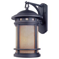 Designers Fountain 2371-AM-ORB Sedona 1 Light 13 inch Oil Rubbed Bronze Outdoor Wall Lantern in Amber
