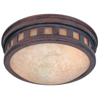 Designers Fountain Sedona 2 Light Outdoor Flushmount in Mediterranean Patina 2375-AM-MP