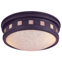 Sedona 2 Light 13 inch Oil Rubbed Bronze Outdoor Flushmount