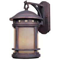 Sedona 3 Light 16 inch Mediterranean Patina Outdoor Wall Lantern in Amber