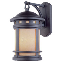 Designers Fountain 2381-AM-ORB Sedona 3 Light 16 inch Oil Rubbed Bronze Outdoor Wall Lantern in Amber