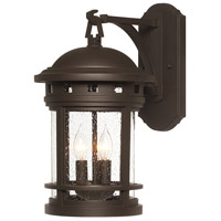 Designers Fountain Sedona 3 Light Outdoor Wall Lantern in Oil Rubbed Bronze 2381-ORB