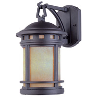 Sedona 3 Light 20 inch Oil Rubbed Bronze Outdoor Wall Lantern in Amber