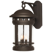Sedona 3 Light 20 inch Oil Rubbed Bronze Outdoor Wall Lantern in Seedy