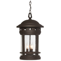Sedona 3 Light 11 inch Oil Rubbed Bronze Outdoor Hanging Lantern in Seedy