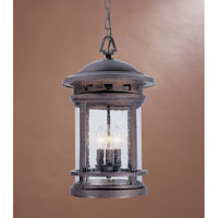 Designers Fountain Sedona 3 Light Outdoor Hanging Lantern in Mediterranean Patina 2394-MP
