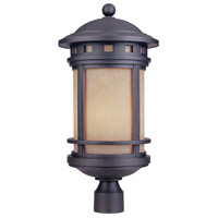 Sedona 3 Light 23 inch Oil Rubbed Bronze Outdoor Post Lantern in Amber