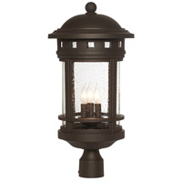 Sedona 3 Light 23 inch Oil Rubbed Bronze Outdoor Post Lantern in Seedy