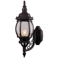 Designers Fountain Riviera 1 Light Outdoor Wall Lantern in Black 2402-BK