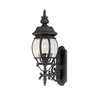 Designers Fountain Riviera 3 Light Outdoor Wall Lantern in Black 2412-BK
