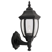 Designers Fountain Tiverton 1 Light Outdoor Wall Lantern in Black 2420-BK
