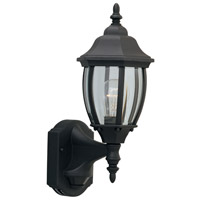 Designers Fountain Tiverton 1 Light Motion Detectors/Security in Black 2420MD-BK