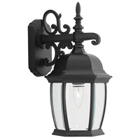 Designers Fountain Tiverton 1 Light Outdoor Wall Lantern in Black 2421-BK