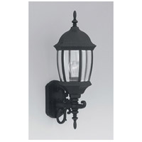 Designers Fountain Tiverton 1 Light Outdoor Wall Lantern in Black 2422-BK