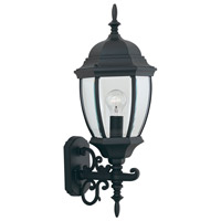 Designers Fountain Tiverton 1 Light Outdoor Wall Lantern in Black 2432-BK