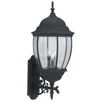 Designers Fountain Tiverton 3 Light Outdoor Wall Lantern in Black 2442-BK