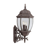 Designers Fountain Tiverton 3 Light Outdoor Wall Lantern in Autumn Gold 2442-AG