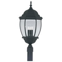 Designers Fountain 2446-BK Tiverton 3 Light 28 inch Black Outdoor Post Lantern