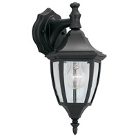 Designers Fountain Signature Cast Aluminum 1 Light Outdoor Wall Lantern in Black 2461-BK
