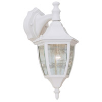 Designers Fountain Signature Cast Aluminum 1 Light Outdoor Wall Lantern in White 2461-WH