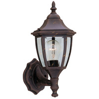 Designers Fountain Signature Cast Aluminum 1 Light Outdoor Wall Lantern in Autumn Gold 2462-AG