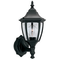 Designers Fountain Signature Cast Aluminum 1 Light Outdoor Wall Lantern in Black 2462-BK