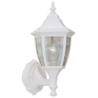 Designers Fountain Signature Cast Aluminum 1 Light Outdoor Wall Lantern in White 2462-WH