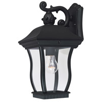 Designers Fountain Chelsea 1 Light Outdoor Wall Lantern in Black 2701-BK